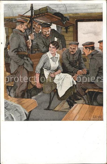 Wennerberg Brynolf Kriegspostkarte Nr. 13 Urlaubsfahrt Soldaten  Kat. Kuenstlerkarte