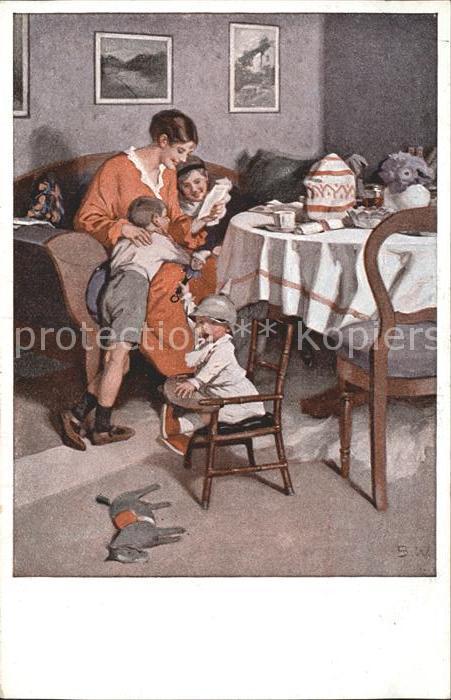 Wennerberg Brynolf Kriegspostkarte Nr. 9 Gute Nachrichten von der Front Kinder Spielzeug Kat. Kuenstlerkarte