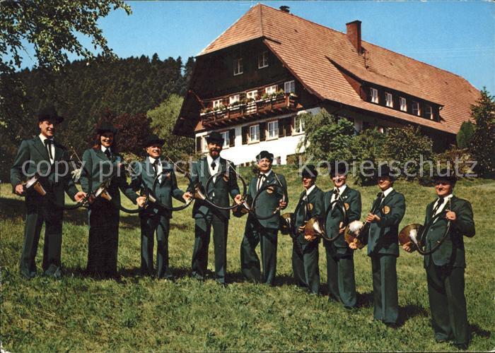 Musikanten Schwarzwaelder Parforce Jagdhornblaesergruppe Schramberg Schiltach Kat. Musik