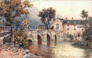 Verlag Tucks Oilette Nr. 2724 Newby Bridge Swan Hotel River Leven H. B. Wimbush  Kat. Verlage