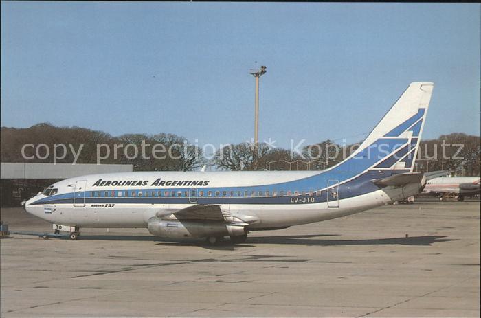 Flugzeuge Zivil Aerolineas Argentinas Boeing 737 287 LV JTO Kat. Flug