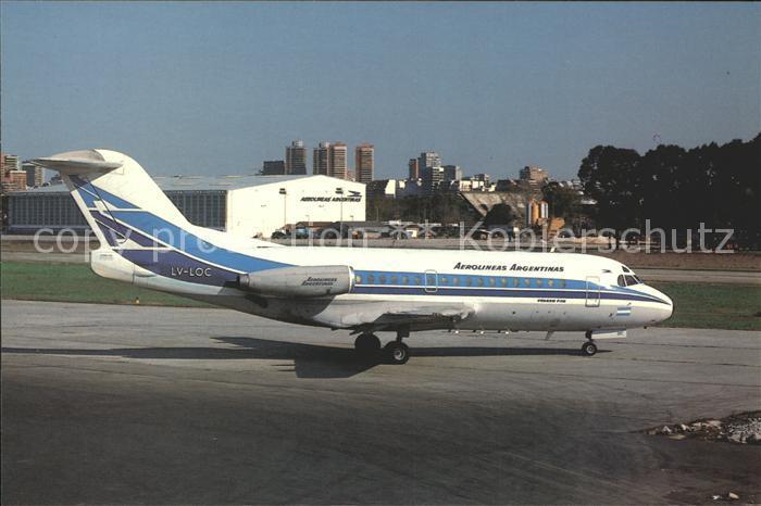 Flugzeuge Zivil Aerolineas Argentinas VFW Fokker F28 1081 LV LOC Kat. Flug