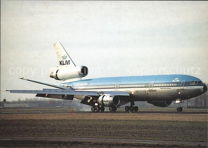 Flugzeuge Zivil KLM Royal Dutch Airlines DC 10 Kat. Flug