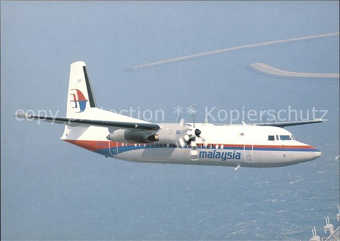 Flugzeuge Zivil Malaysia Fokker 50 9M MGA  Kat. Flug