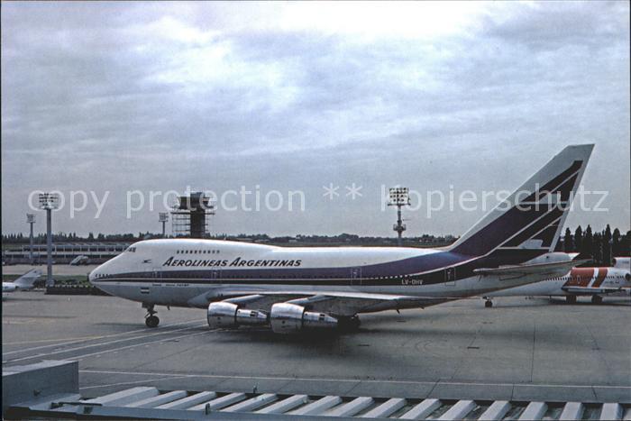 Flugzeuge Zivil Aerolineas Argentinas B747 SP27 LH OHV c n 21786 Kat. Flug