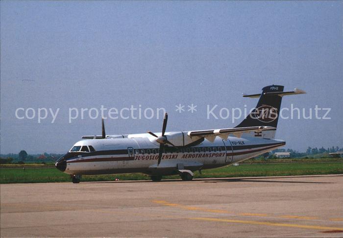 Flugzeuge Zivil Jugoslovenski Aerotransport JAT ATR 42 YU ALK Kat. Flug