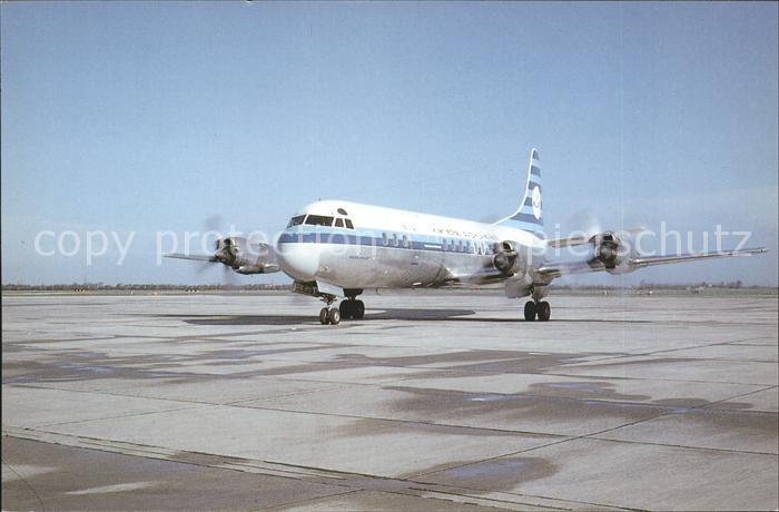 Flugzeuge Zivil KLM Royal Dutch Airlines Lockheed Electra  Kat. Flug