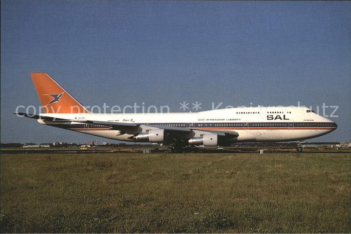 Flugzeuge Zivil SAL South African Airways Boeing 747 344 ZS SAT Kat. Flug