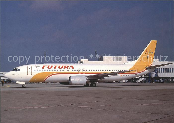Flugzeuge Zivil Futura Boeing B737 4YO EC ETB c n 24545 Kat. Flug