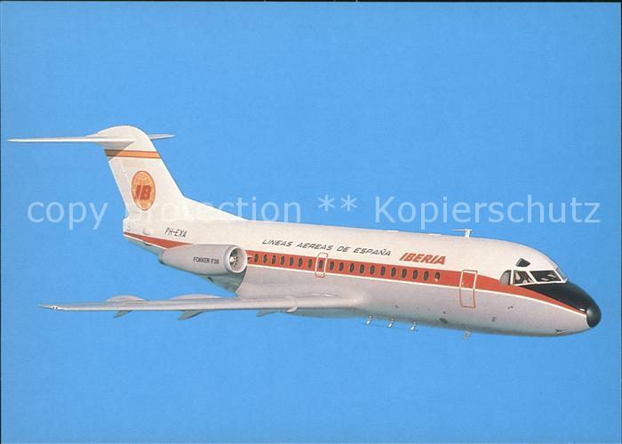 Flugzeuge Zivil Iberia Lineas Aereas de Espana Fokker F28 Mk 2000 PH EXA  Kat. Flug