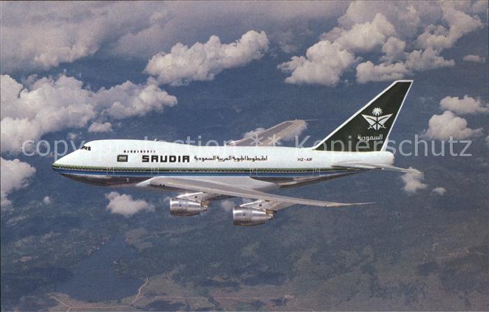 Flugzeuge Zivil Saudia Saudi Arabian Airlines Boeing 747SP 68 HZ AIF c n 22503