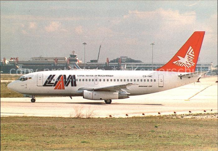 Flugzeuge Zivil  LAM Lineas Aereas de Mocambique Boeing 7372B1C Advanced C9 BAC