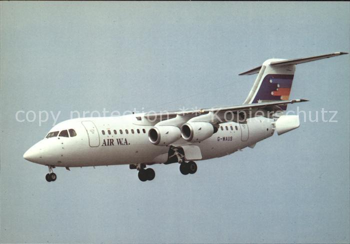 Flugzeuge Zivil Air WA BAe 146 200 G WAUS c n E.2008