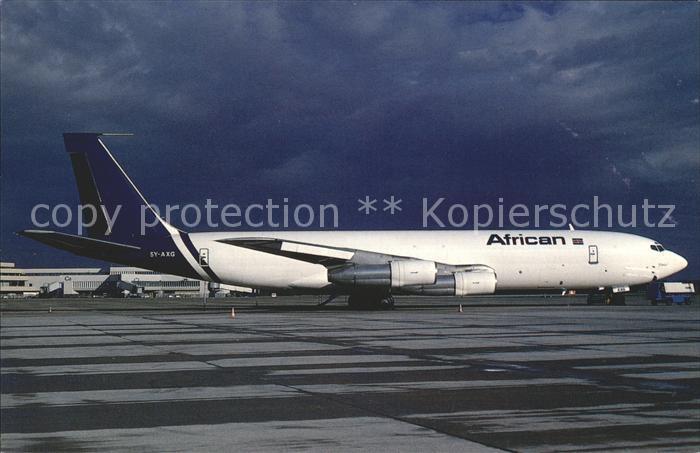 Flugzeuge Zivil African Boeing 707 321C c n 19369 5Y AXG  Kat. Airplanes Avions