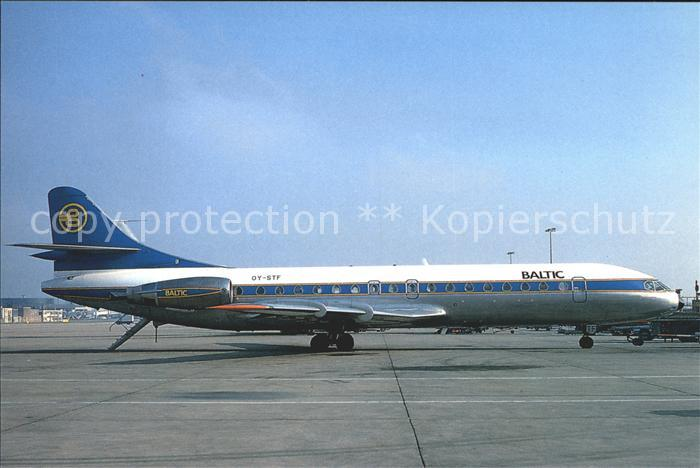 Flugzeuge Zivil Baltic Aviation Sud Aviation SE210 Caravelle 10B3 OY STF c n 257 Kat. Airplanes Avions