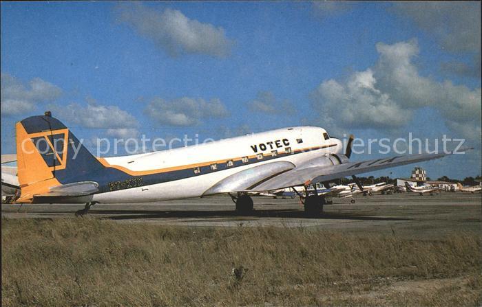 Flugzeuge Zivil Votec Servicos Aereos Regionais Douglas Dc 3 C 47A PT KYX c n 25266  Kat. Airplanes Avions