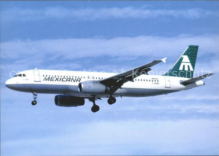 Flugzeuge Zivil Mexicana Morella A320 F OHMD Kat. Airplanes Avions