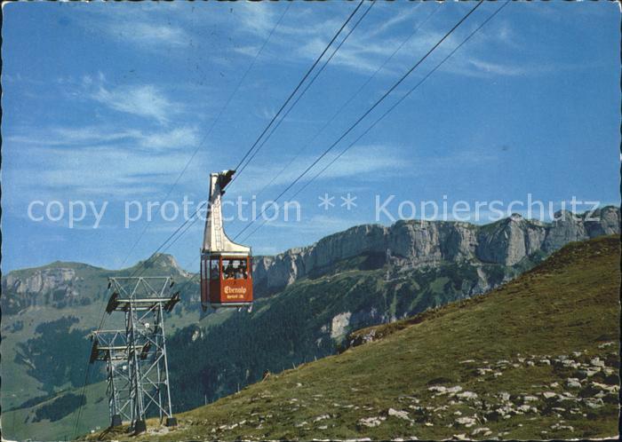 Seilbahn Wasserauen Ebenalp Kamor Hoher Kasten Alpsiegel Bahnen