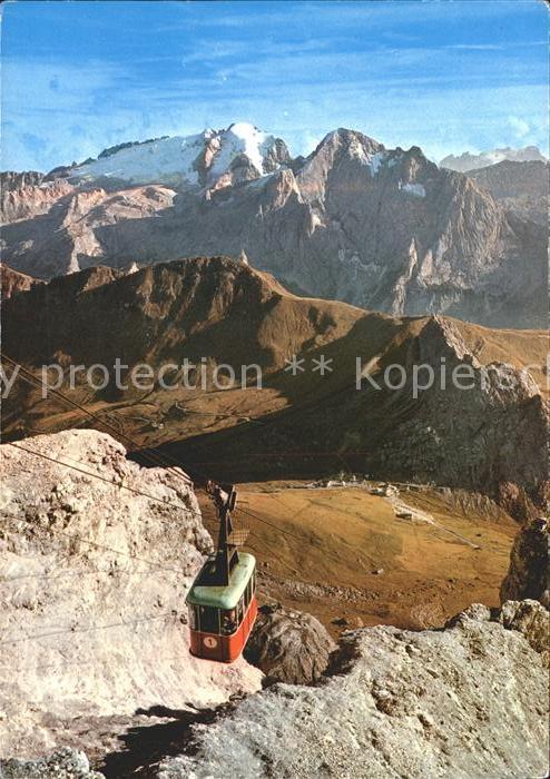 Seilbahn Passo Pordoi Cima Pordoi Marmolada Dolomiti / Bahnen /