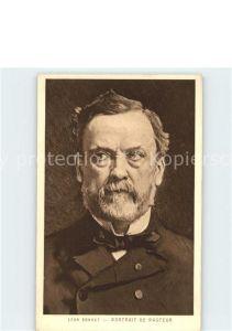 Kuenstlerkarte Leon Bonnat Portrait de Pasteur  Kat. Kuenstlerkarte