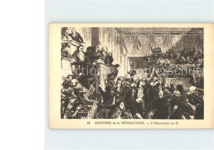 Politik Geschichte Franzoesische Revolution Thermidor  Kat. Politik und Geschichte