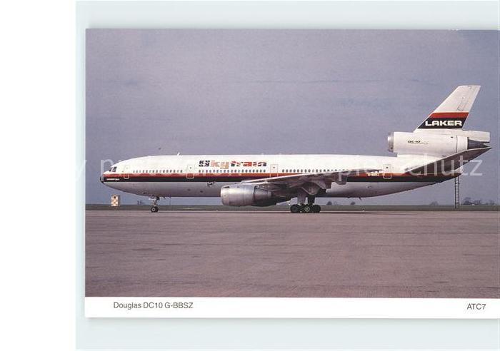 Flugzeuge Zivil Laker Airways Douglas DC10 10 G BBSZ Kat. Airplanes Avions