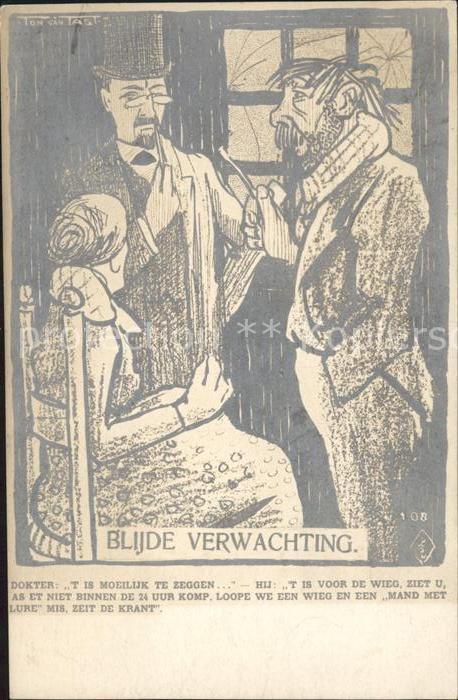 Kuenstlerkarte Anton van der Valk Ton van Tast Blijde Verwachting  Kat. Kuenstlerkarte