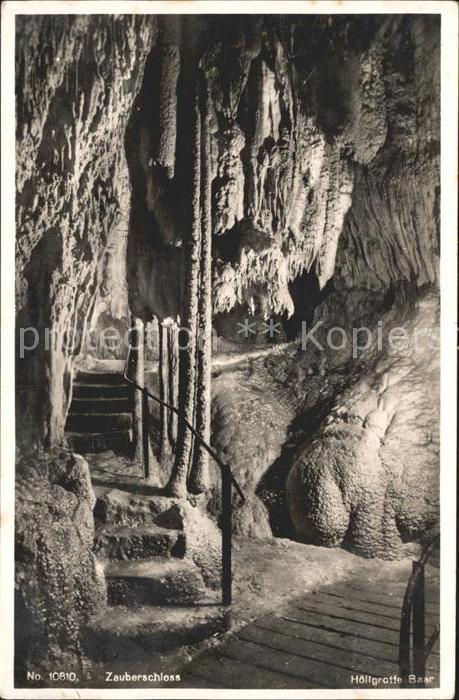 Hoehlen Caves Grottes Hoellgrotte Baar Zauberschloss  Kat. Berge
