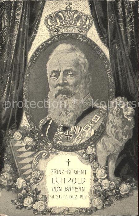 Adel Bayern Prinz Regent Luitpold von Bayern  Kat. Koenigshaeuser