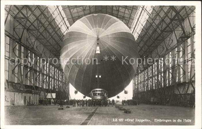 Zeppelin Graf Zeppelin Einbringen Halle  Kat. Flug