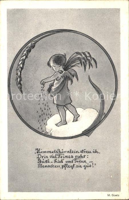 Goetz M. Engel Korn Gedicht Gedicht Kat. Kuenstlerkarte
