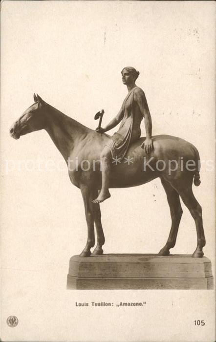 Skulpturen Amazone Louis Tuaillon  Kat. Skulpturen