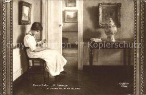 Kuenstlerkarte G. Larrue La Jeune Fille en Blanc Nr. 2746  Kat. Kuenstlerkarte
