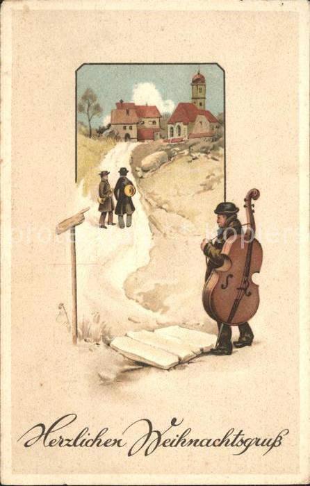 Weihnachtsessen Celle.Weihnachten Musikanten Cello Trompete Kat Greetings