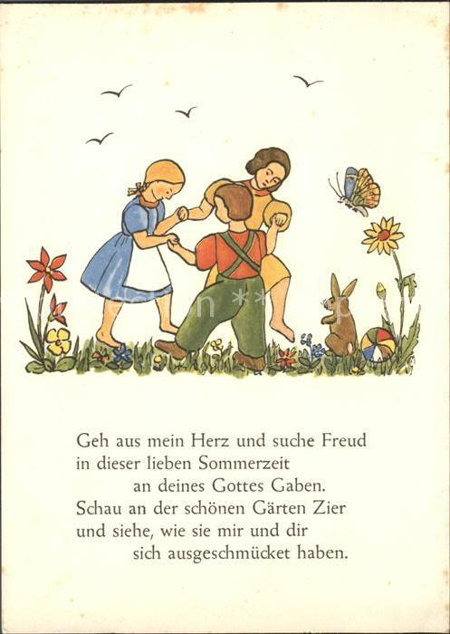 Kinder Child Enfants Tanz Hase Blumen Schmetterling Gedicht Anne Lore Niebuhr Kat Kinder