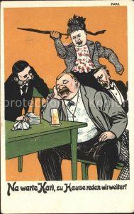 Humor Ehepaar Zigarre Bier Regenschirm Wut  Kat. Humor