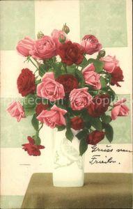 Rosen Vase  Kat. Pflanzen