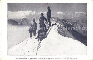 Bergsteigen Klettern Bergsteiger Sommet Jungfrau Werbung Librairie Larousse Paris / Sport /