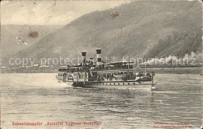 Dampfer Seitenrad Kaiserin Auguste Victoria Kat. Schiffe