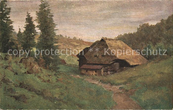 Spitz C. Schwarzwaldhaus Nr. 5 Kat. Schwarzwaldkuenstler