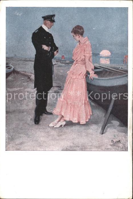 Wennerberg Brynolf Am Strand Nr. 21 Kriegspostkarte  Kat. Kuenstlerkarte
