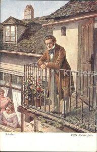 Verlag Wiener Kunst Nr. 2076 Schubert Felix Riedel  Kat. Verlage