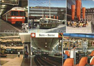 Eisenbahn Bern Bahnhof Autobus  Kat. Eisenbahn