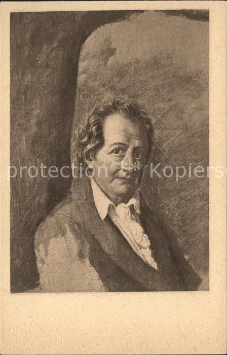 Goethe Johann Wolfgang von Kuenstlerkarte Julie von Egloffstein  Kat. Dichter