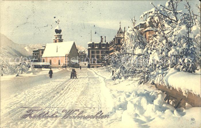 Verlag Tucks Nr. 142 Weihnachten Winterlandschaft Kat. Verlage