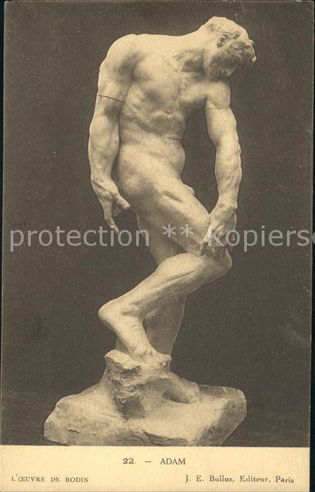 Skulpturen Adam Oeuvre de Rodin Kat. Skulpturen