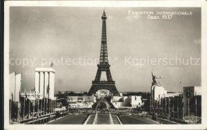 Exposition Internationale Paris 1937 Prise du Trocadero Eiffelturm Kat. Expositions