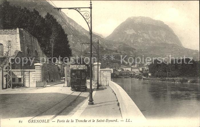 Strassenbahn Grenoble Porte de la Tronche Saint Eynard  Kat. Strassenbahn