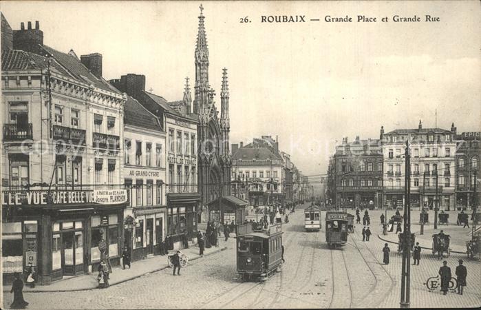 Strassenbahn Roubaix Grande Place Grande Rue  Kat. Strassenbahn