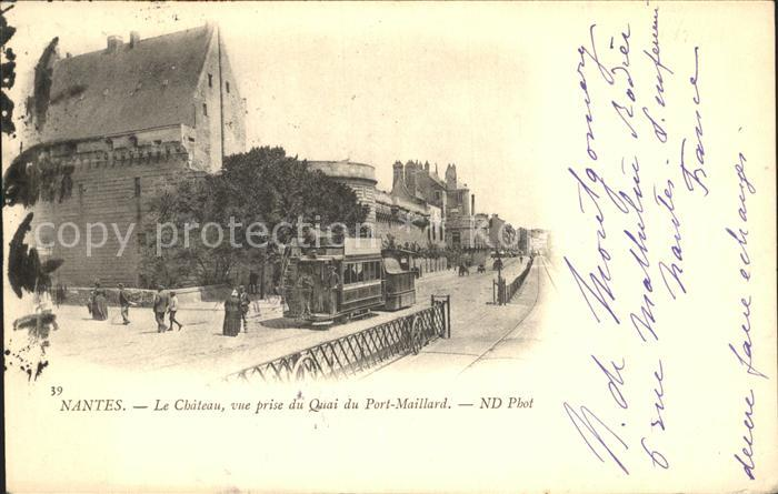 Strassenbahn Nantes Chateau Quai Port Maillard  Kat. Strassenbahn